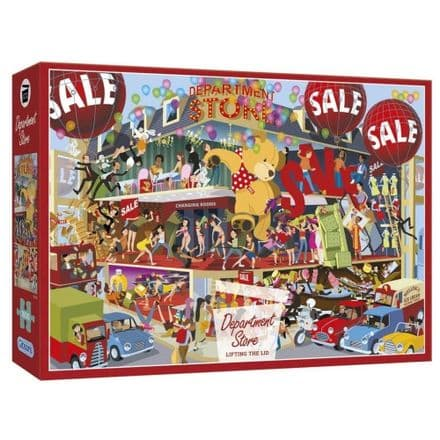 Department Store Lifting the Lid by Andy Tudor 1000 Piece Gibsons Jigsaw