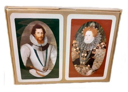 Earl of Essex & Queen Elizabeth 1 Bridge Set of 2 Packs of Playing Cards