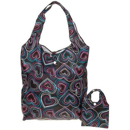 Equilibrium Handybag Hearts in Black