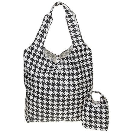 Equilibrium Handybag Hounds Tooth in Black