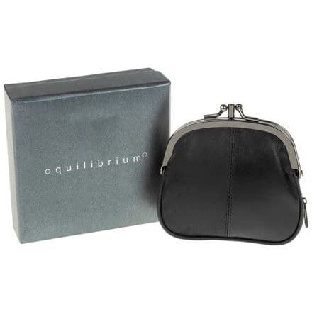 Equilibrium Leather Small Black Purse