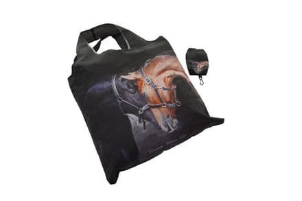 Foldaway Bag, Old Friends Horses Design