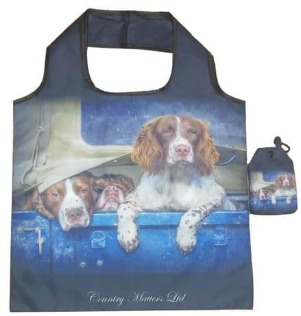 Foldaway Bag Spaniels in Landy Design
