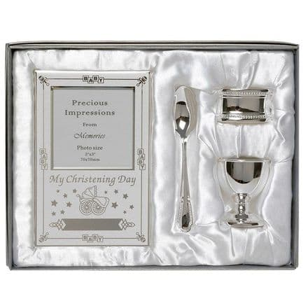 Four Piece Silver Plated Christening Set
