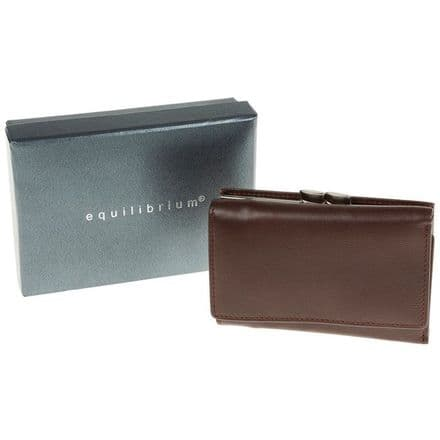 Genuine Leather Small Brown Wallet Purse