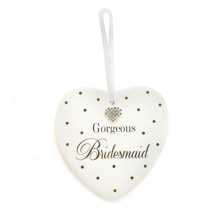 Gorgeous Bridesmaid Heart Plaque