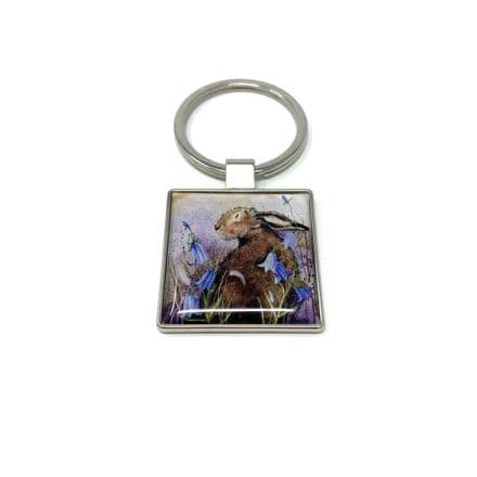 Hare & Harebell Keyring by Alex Clark