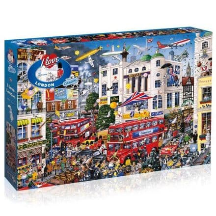 I Love London by Mike Jupp 1000 Piece Gibsons Jigsaw