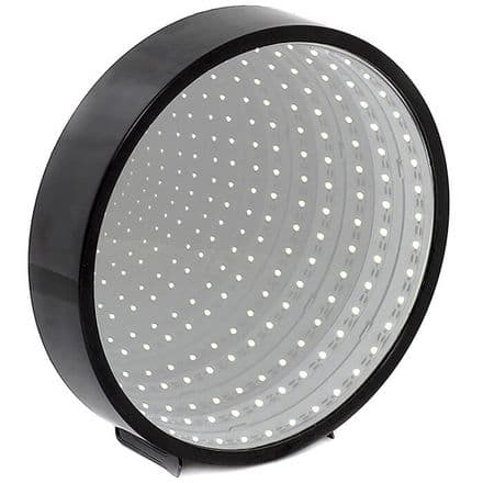 Infinity LED Round Mirror in Black