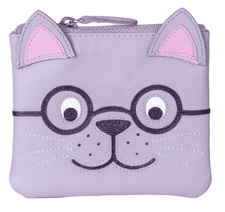 Leather Harry the Cat Coin Purse