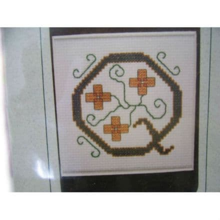 Letter Q Counted Cross Stitch Kit