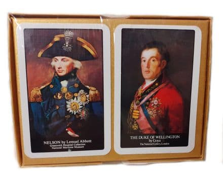 Lord Nelson & The Duke of Wellington Bridge Set of 2 Packs of Playing Cards