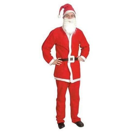 Men's Santa 5 Piece Suit Costume