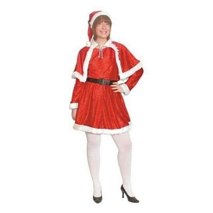 Miss Santa 4 Piece Suit Costume