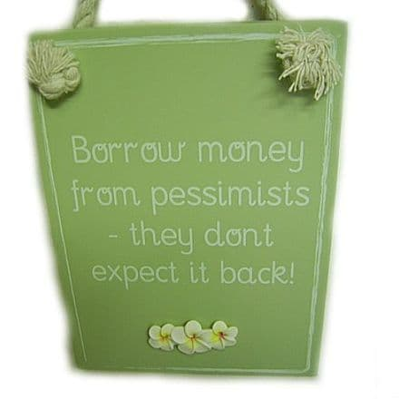 Money Wall Plaque, Funny Phrases