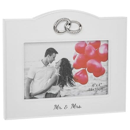 Mr and Mrs Rings Frame 6x4