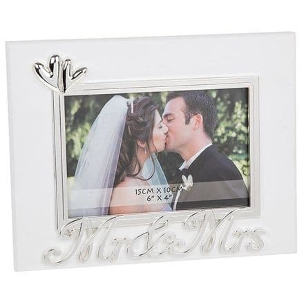 Mr & Mrs Heart Frame 6x4