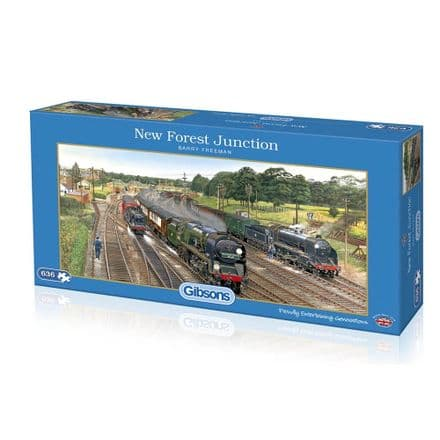 New Forest Junction by Barry Freeman 636 Piece Gibsons Jigsaw