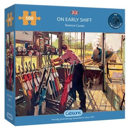 On Early Shift by Terence Cuneo 500 Piece Gibsons Jigsaw