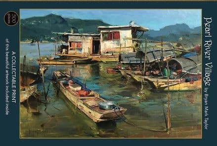 Pearl River Village by Bryan Mark Taylor, 500 piece Art & Fable Premium Quality Jigsaw Puzzle