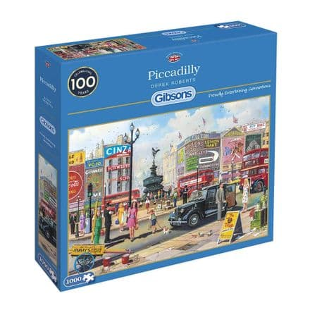 Piccadilly by Derek Roberts 1000 Piece Gibsons Jigsaw