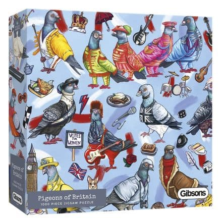 Pigeons of Britain by Alice Tams 1000 Piece Gibsons Jigsaw