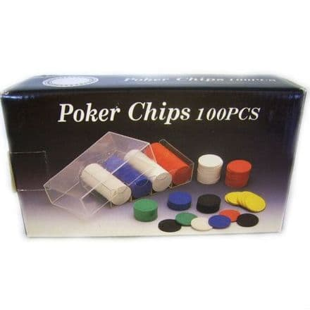 Poker Chips Set, 100 Pieces
