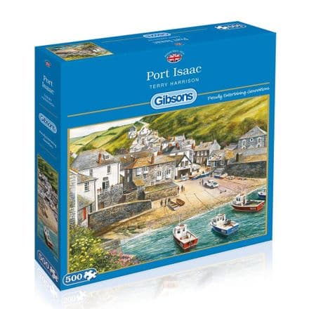 Port Isaac by Terry Harrison 500 Piece Gibsons Jigsaw