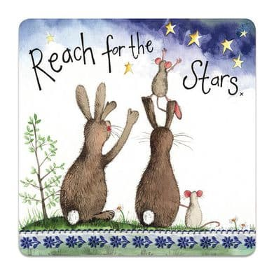 Reach for the Stars Corked Backed Coaster
