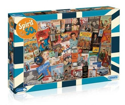 Spirit of the 50s by Robert Opie 1000 Piece Gibsons Jigsaw