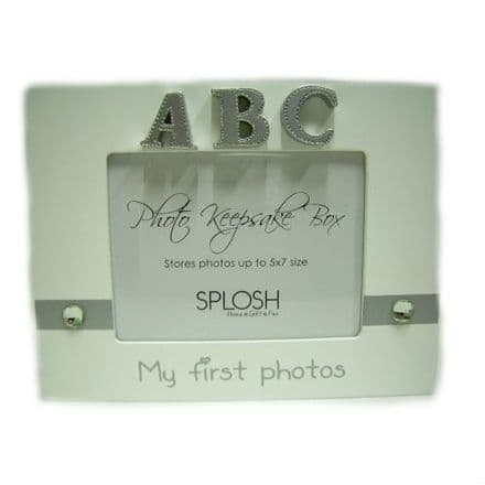 Splosh Photo Keepsake Box in White, My First Photos