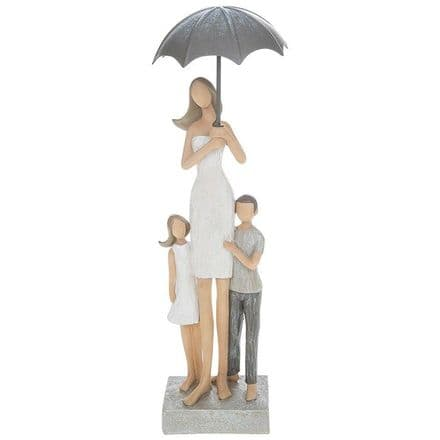 Summer Shower Mum and Children Figurine