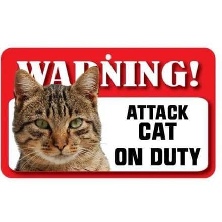 Tabby Cat Pet Sign