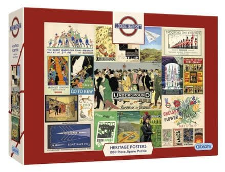 TFL Heritage Posters 1000 Piece Gibsons Jigsaw