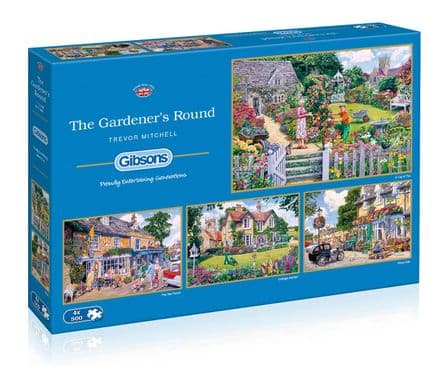 The Gardener's Round by Trevor Mitchell 4 x 500 Gibsons Jigsaws