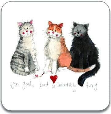 The Good, Bad & Incredibly Furry Cats Coaster