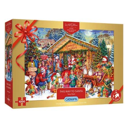 This Way to Santa Christmas Jigsaw by Tony Ryan Limited Edition 1000 Piece Gibsons Jigsaw