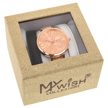 Timeless Rose Gold Coloured Watch 3 Piece Set