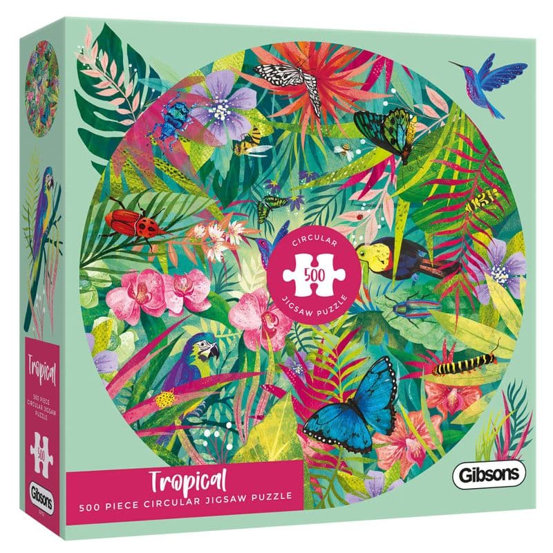 Tropical by Claire McElfatrick 500 Piece Circular Gibsons Jigsaw