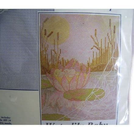 Waterlily Baby Counted Cross Stitch Kit