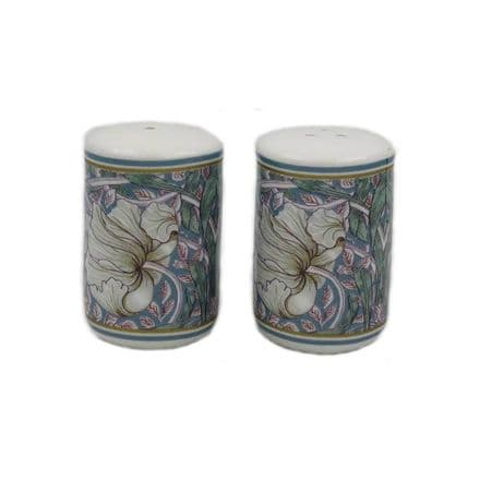 William Morris Pimpernel Design Fine China Salt & Pepper Pots