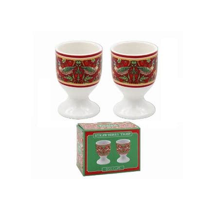 William Morris Strawberry Thief Pair of Fine China Egg Cups