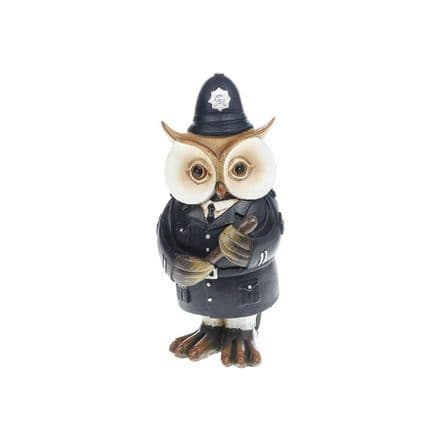 Working Owl Policeman Figurine