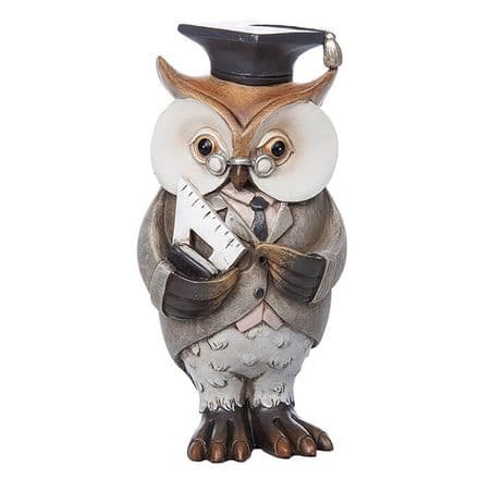 Working Owl Teacher Figurine