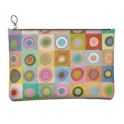 Circles Leather Clutch Bag