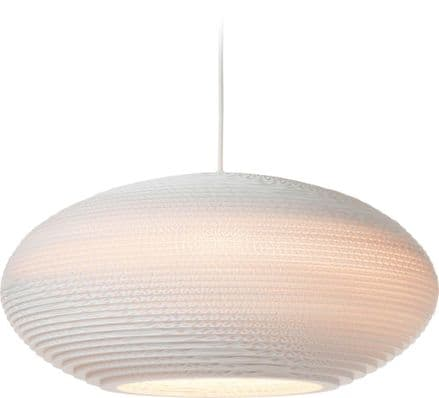 Disc Pendant Light made from recycled cardboard
