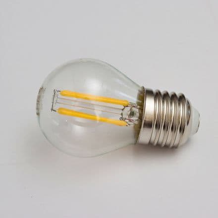 Filament LED Small Round Bulb ES Clear Warm White