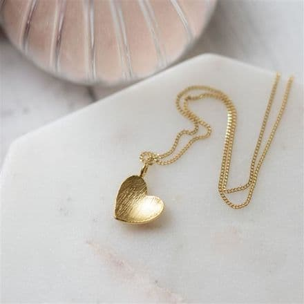 Gold plated heart pendant with Gift Box