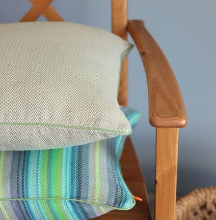 Herringbone Cushion Cover in Pear Green