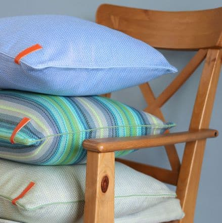 Herringbone Cushion Cover in Sky Blue